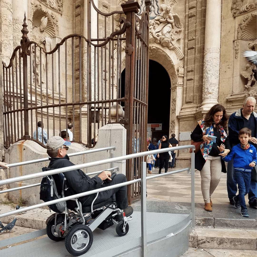 Wheelchair tours ramp