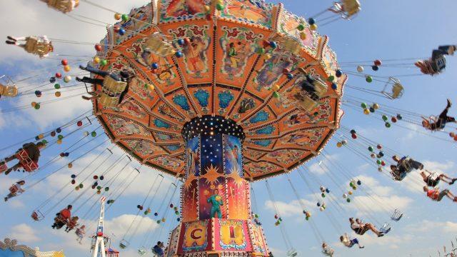 Sky Carousel Entertainment Travel Fair Pleasure
